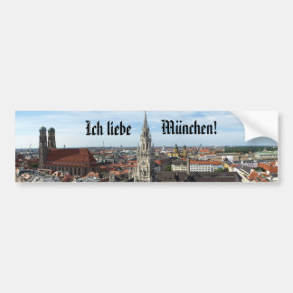 """I love Munich!"" Bumper Sticker"