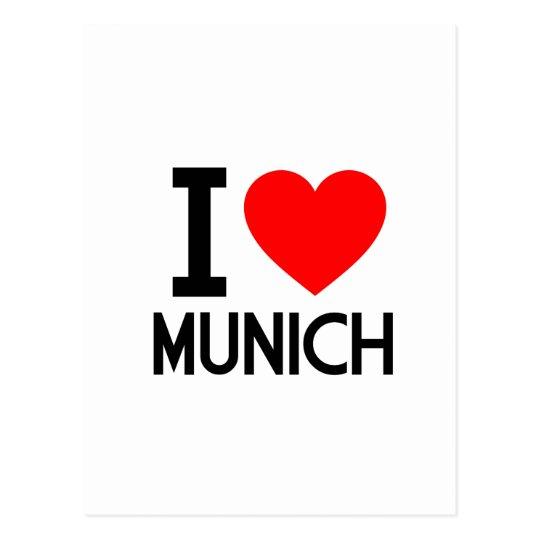 I Love Munich Postcard