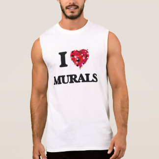 I Love Murals Sleeveless T-shirt