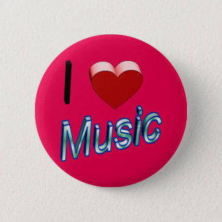 I Love Music 2 2 Inch Round Button