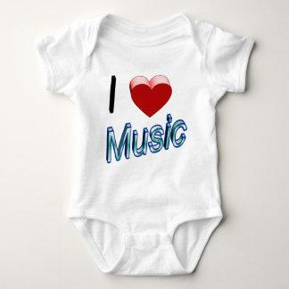 I Love Music 2 Baby Bodysuit