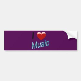 I Love Music 2 Bumper Sticker