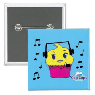 I love music 2 inch square button