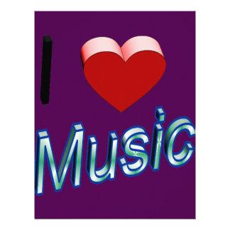 I Love Music 2 Letterhead