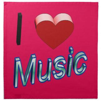 I Love Music 2 Napkin