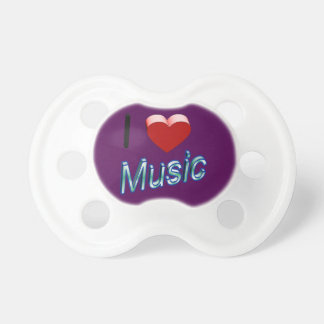 I Love Music 2 Pacifier