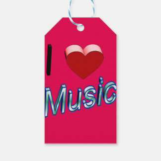 I Love Music 2 Pack Of Gift Tags