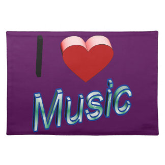 I Love Music 2 Placemat
