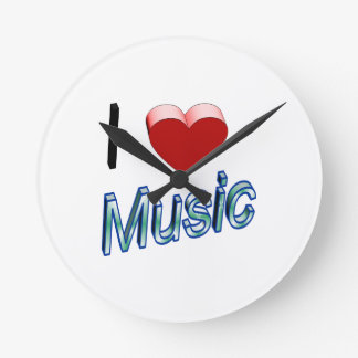 I Love Music 2 Round Clock