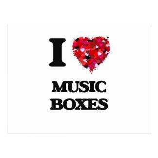 I Love Music Boxes Postcard