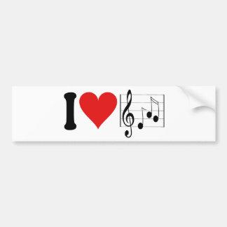 I Love Music * Bumper Stickers