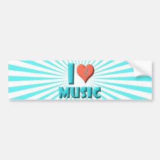 I Love Music Bumper Stickers
