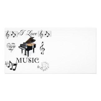 I Love Music - Designer Photo Card