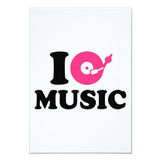 I love music DJ Custom Invite