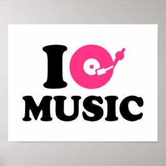 I love music DJ Poster