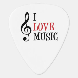 I Love Music Guitar Pick