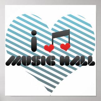 I Love Music Hall Print