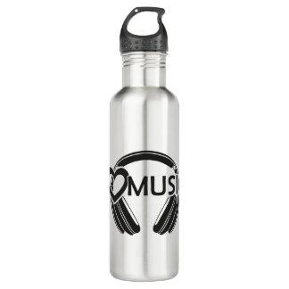 I love music headphones 710 ml water bottle