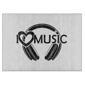 I love music headphones cutting board