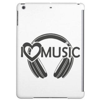 I love music headphones iPad air case