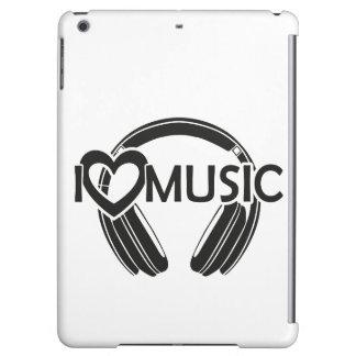 I love music headphones iPad air cases