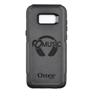 I love music headphones OtterBox commuter samsung galaxy s8+ case