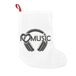 I love music headphones small christmas stocking