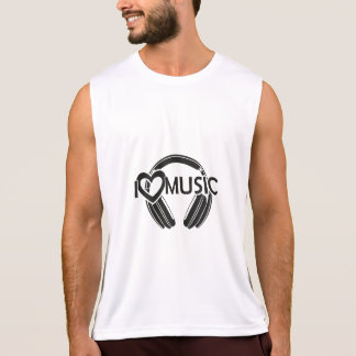I love music headphones tank top