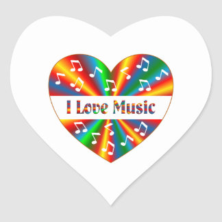 I Love Music Heart Sticker