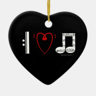 I Love Music (I Heart Notes) Customizable Ornament