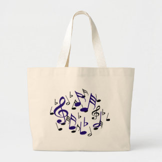 I love Music_ Large Tote Bag