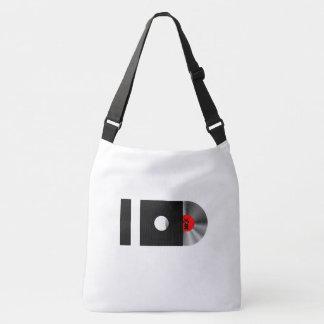 I LOVE MUSIC/LOVE SAVES THE DAY -back print Crossbody Bag