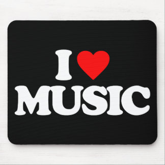 I LOVE MUSIC MOUSE PAD
