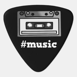 I Love Music/#Music Hashtag Tape Cassette Design Guitar Pick