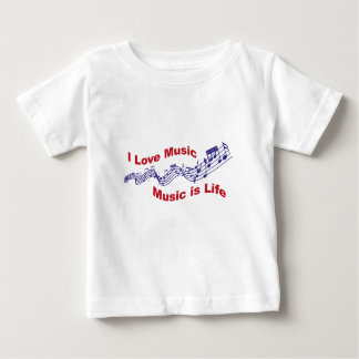 I love music Music is life Baby T-Shirt