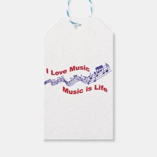 I love music Music is life Gift Tags