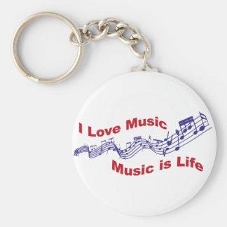 I love music Music is life Keychain