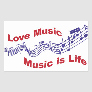 I love music Music is life Sticker