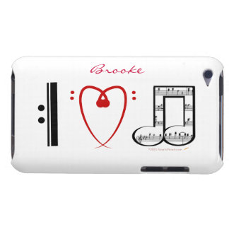 I Love Music Music Lovers Custom Name Skin Barely There iPod Case