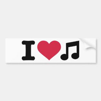 I love music note bumper sticker