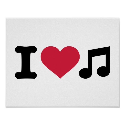 I love music note poster