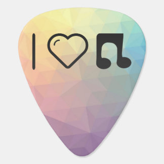 I Love Music Notes Guitar Pick