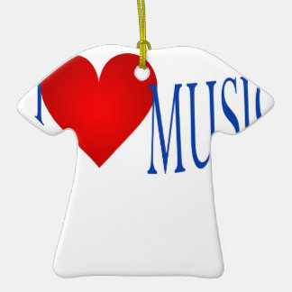 I love music christmas ornament