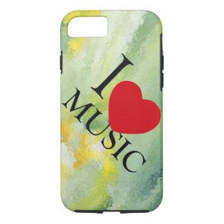 i love music Paint brush design apple iphone case