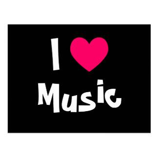 I Love Music Postcard