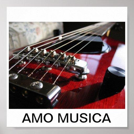 I LOVE MUSIC PRINT