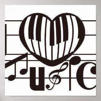 I LOVE MUSIC POSTER