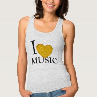 i love music red heart music lovers t-shirt design