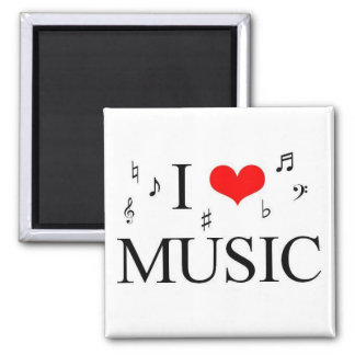 i Love Music Square Magnet