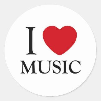 I Love Music Stickers